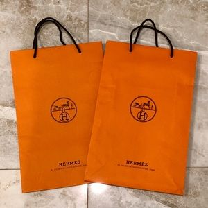Two (2) Medium Hermès Shopping Bags